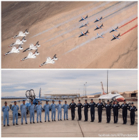 The U.S. Air Force Thunderbirds met up with their French equivalent, Patrouille de France, for a stunning mission – a flight over Death Valley.: facebook.com/AFThunderbirds The U.S. Air Force Thunderbirds met up with their French equivalent, Patrouille de France, for a stunning mission – a flight over Death Valley.