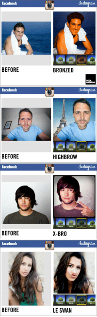 """<p>Facebook introduces new instagram filters.</p> <p>(<a href=""""http://coolmaterial.com/roundup/facebook-introduces-new-instagram-filters/"""" target=""""_blank"""">via</a>)</p>: facebook  Justagram  Hudson  SierraBronzed  Lo-Fi  BEFORE  BRONZED  COOL  MATERIA   facebook  Justagram  PooD0  Hudson  SierraHighbrow  Lo-Fi  BEFORE  HIGHBROW   facebook  gnstagram  Hudson  SierraX-Bro  Lo-Fi  BEFORE  X-BRO   facebook  gnstagram  Hudson  SierraLe Swan  Lo-Fi  BEFORE  LE SWAN <p>Facebook introduces new instagram filters.</p> <p>(<a href=""""http://coolmaterial.com/roundup/facebook-introduces-new-instagram-filters/"""" target=""""_blank"""">via</a>)</p>"""