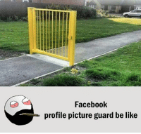 Be Like, Facebook, and Meme: Facebook  profile picture guard be like Twitter: BLB247 Snapchat : BELIKEBRO.COM belikebro sarcasm meme Follow @be.like.bro