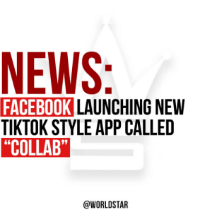 """Facebook will be launching a new TikTok style app called """"Collab."""" The app will allow users to """"create, watch and mash up original videos and music,"""" says CNET. Collab is currently running an invite only beta on iOS and will be opening in phases in the US and Canada. 📱🎶👀 @CNET https://t.co/DmmSkHevWY: Facebook will be launching a new TikTok style app called """"Collab."""" The app will allow users to """"create, watch and mash up original videos and music,"""" says CNET. Collab is currently running an invite only beta on iOS and will be opening in phases in the US and Canada. 📱🎶👀 @CNET https://t.co/DmmSkHevWY"""