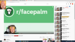 """Bad, Facepalm, and Google: FACEPALM° st words  O I fix Pewdiepie Thumbnail. :  G youtube - Google Search  O (1) 99.41% Cant Watch: X  .  A https://www.youtube.com/watch?v=q6-Upc54lg8  ...  GB  Search  R  Up next  AUTOPLAY  