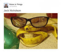 Jack Nicholson, Memes, and Twitter: Faces in Things  @FacesPics  Jack Nicholson (By @FacesPics/https://twitter.com/FacesPics)