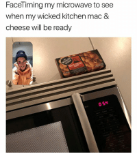Funny, Wicked, and Living: FaceTiming my microwave to see  when my wicked kitchen mac &  cheese will be ready Living in 3018 with my @wickedkitchenfood mac and cheese. Check em out in the freezer aisle ad