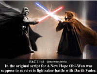 His** - 🔹What is your favorite Obiwan moment?🔹 - starwars stormtrooper firstorderstormtrooper superbowl swtfa jedi sith more movie me cool instagood dc marvel follow like awesome nerd geek nerdness force jedi sith: FACT 149 (a starwars.trivia  In the original script for A New Hope Obi-Wan was  suppose to survive is lightsaber battle with Darth Vader. His** - 🔹What is your favorite Obiwan moment?🔹 - starwars stormtrooper firstorderstormtrooper superbowl swtfa jedi sith more movie me cool instagood dc marvel follow like awesome nerd geek nerdness force jedi sith
