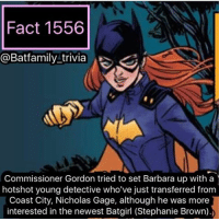 Bane, Batman, and Definitely: Fact 1556  @Batfamily trivia  Commissioner Gordon tried to set Barbara up with a  hotshot young detective who've just transferred from  Coast City, Nicholas Gage, although he was more  interested in the newest Batgirl (Stephanie Brown). So that new Thor trailer. I mean it looks very different, not the traditional Thor movie which idk if I like or not. We got to see Hela, Loki, Grandmaster and more appear in this trailer. I'm surprise it was a teaser and not a full blown trailer. Idk seemed little new and strange. This film is definitely going all out, let's see what it will bring in November. Also when Thor saw Hulk, that will forever be my favorite line from Thor. batman75 batgirl bane batman dccomics raven robin robin75 nightwing dickgrayson barbaragordon thor3