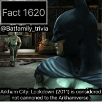 "Arguing, Bad, and Batman: Fact 1620  @Batfamily_trivia  Arkham City: Lockdown (2011) is considered  not cannoned to the Arkhamverse You know what else has problems with its continuity, the MCU! Spidey spoilers: - - So as we know the Sony logo came up first before the classic marvel logo. Already a bad sign. So I blame Sony for the prologue scene. Because that title: ""eight years later"" completely throws off the MCU. Because it places Homecoming in... 2020! Wait hold up. We know for a fact Avengers takes place in 2012. Why? Don't listen to screenjunkies they don't know anything. Because we saw in 2012's Avengers, when Iron Man was carrying the nuke, he passes what? The World Trade Center under Construction! And it was at 2012 level. And then in Civil War, it's supposed to be 2016 because Vision (even though I hate him) explains Stark has been Iron Man for eight years. And so that places the first iron man in in 2008. However one could argue Civil War does take place in 2018 because of Fury's Big Week. However! Homecoming takes place 2 months later! What the heck?! I don't blame Feige I bet Sony was like: - - ""Your precious MCU with no plot holes, it would be a shame if someone, messed it up."" Batman75 ArkhamCityLockdown Batman Arkham"