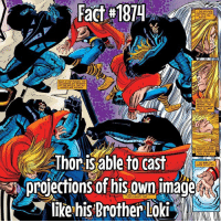 Memes, Thor, and Awesome: Fact #1874  Thor isable to cast  likeh&Brother Loki Woah! That's awesome! Fact via @marveltruefacts