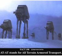 At-At, Jedi, and Memes: FACT 198  Castarwars trivia  AT-AT stands for All Terrain Armored Transport. 🔹 Would you rather drive an AT-AT or a Speeder Bike🔹 - starwars stormtrooper firstorderstormtrooper superbowl swtfa jedi sith more movie me cool instagood dc marvel follow like awesome nerd geek nerdness force jedi sith