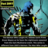 Hey so I archived the original post because it had an error. Tbh looking up this fact last night was difficult because it kept saying Bruce Wayne and each one was from a different reality. I just wanted to use the picture 😅😅😅. Sorry for the mix up. Tomorrow's fact will not be so convoluted.: Fact 2097  @Batfamily^trivia  The Batman Who Laughs #1, follows Earth Prime  Bruce Wayne as he faces the nightmares spawned  from the Dark Multiverse event. This series is  different from 2005's Batman: The Man Who Laughs. Hey so I archived the original post because it had an error. Tbh looking up this fact last night was difficult because it kept saying Bruce Wayne and each one was from a different reality. I just wanted to use the picture 😅😅😅. Sorry for the mix up. Tomorrow's fact will not be so convoluted.