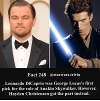 🔹Who would've done a better job?🔹 - starwars stormtrooper firstorderstormtrooper superbowl swtfa jedi sith more movie me cool instagood dc marvel follow like awesome nerd geek nerdness force jedi sith: Fact 248 astarwars.trivi:a  Leonardo DiCaprio was George Lucas's first  pick for the role of Anakin Skywalker. However,  Hayden Christensen got the part instead. 🔹Who would've done a better job?🔹 - starwars stormtrooper firstorderstormtrooper superbowl swtfa jedi sith more movie me cool instagood dc marvel follow like awesome nerd geek nerdness force jedi sith