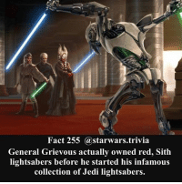 Jedi Memes And Nerd Fact 255 Starwarstrivia General Grievous Actually