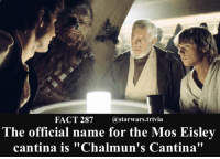 "🔹What would you have named it?🔹 - starwars stormtrooper firstorderstormtrooper superbowl swtfa jedi sith more movie me cool instagood dc marvel follow like awesome nerd geek nerdness force jedi sith: FACT 287 starwars.trivia  The official name for the Mos Eislev  cantina is ""Chalmun's Cantina"" 🔹What would you have named it?🔹 - starwars stormtrooper firstorderstormtrooper superbowl swtfa jedi sith more movie me cool instagood dc marvel follow like awesome nerd geek nerdness force jedi sith"