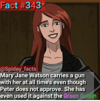 So this year I may not have been able to go to ComicCon, but a good friend of mine and I have agreed that we'll save up for next year. Hopefully you will to so we can see eachother because I'll be live streaming!: Fact #343*  @Spidey_facts  Mary Jane Watson carries a gun  with her at all time's even though  Peter does not approve. She has  even used it against the Green  against the Green Gobl So this year I may not have been able to go to ComicCon, but a good friend of mine and I have agreed that we'll save up for next year. Hopefully you will to so we can see eachother because I'll be live streaming!