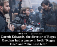 """🔹Honestly I like his cameos hope he keeps doing them!🔹 - starwars force cool nice nerd geek: FACT 370 @starwars.trivia  Gareth Edwards, the director of Rogue  One, has had a cameo in both """"Rogue  One"""" and """"The Last Jedi"""" 🔹Honestly I like his cameos hope he keeps doing them!🔹 - starwars force cool nice nerd geek"""