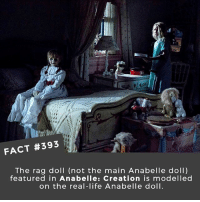 Life, Memes, and Movies: FACT #393  The rag doll (not the main Anabelle doll)  featured in Anabelle: Creation is modelled  on the real-life Anabelle doll What is the creepiest horror movie villain? I gotta say, evil dolls really creep me out! 🎥 • • • • Double Tap and Tag someone who needs to know this 👇 All credit to the respective film and producers. movie movies film tv camera cinema fact didyouknow moviefacts cinematography screenplay director actor actress act acting movienight cinemas watchingmovies hollywood bollywood didyouknowmovies