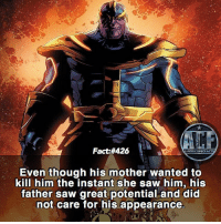 - Dads are the best! Photo Credit: @facts_of_heroes • - QOTD?!: Favorite Villain?!? • - Follow my Spanish account @triviadecomics: Fact:#426  Even though his mother wanted to  kill him the instant she saw him, his  father saw great potential and did  not care for his appearance  tether - Dads are the best! Photo Credit: @facts_of_heroes • - QOTD?!: Favorite Villain?!? • - Follow my Spanish account @triviadecomics
