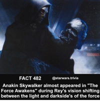 """⚫️Who would have liked to see this?⚫️ - starwars force cool follow 104k soon rogueone fantasticbeasts like: FACT 482  @starwars trivia  Anakin Skywalker almost appeared in """"The  Force Awakens"""" during Rey's vision shifting  between the light and darkside's of the force ⚫️Who would have liked to see this?⚫️ - starwars force cool follow 104k soon rogueone fantasticbeasts like"""