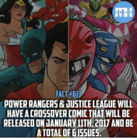 Facts, Memes, and Justice: FACT #613  POWERRANGERS & JUSTICE LEAGUE WILL  HAVE ACROSSOVERCOMIC THAT WILL BE  RELEASED ON JANUARY 11TH.2017 AND BE  A TOTAL OF 6ISSUES. This should be interesting.