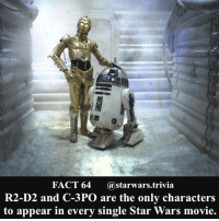 🔹Do you want Lucas Film to continue this tradition or retire the characters?🔹 - starwars stormtrooper firstorderstormtrooper superbowl swtfa jedi sith more movie me cool instagood dc marvel follow like awesome nerd geek nerdness force jedi sith: FACT 64  @starwars trivia  R2-D2 and C-3PO are the only characters  to appear in every single Star Wars movie. 🔹Do you want Lucas Film to continue this tradition or retire the characters?🔹 - starwars stormtrooper firstorderstormtrooper superbowl swtfa jedi sith more movie me cool instagood dc marvel follow like awesome nerd geek nerdness force jedi sith