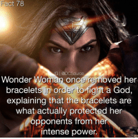 Fact 78 G Source Wonder Woman Once Removed Her Bracelets In Order To