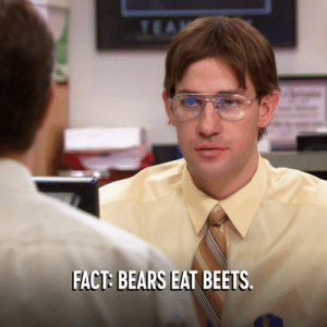 Calling all Dwight Schrutes: The Office is on now and on the ground at Clusterfest, June 21-23. Buy tickets here: on.cc.com/2VzuPx4: FACT: BEARS EAT BEETS Calling all Dwight Schrutes: The Office is on now and on the ground at Clusterfest, June 21-23. Buy tickets here: on.cc.com/2VzuPx4