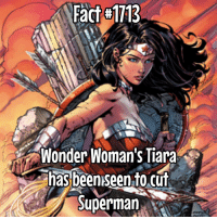 Memes, 🤖, and Diana: Fact H1113  Wonder Woman's Tiara  has been seen to cut  Superman Don't mess with Diana