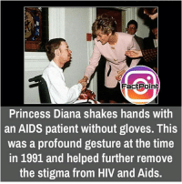 did you know fact point , education amazing dyk unknown facts daily facts💯 didyouknow follow follow4follow f4f factpoint instafact awesome world worldfacts like like4ike tag friends Don't forget to tag your friends 🤘: FactPoin  Princess Diana shakes hands with  an AIDS patient without gloves. This  was a profound gesture at the time  in 1991 and helped further remove  the stigma from HIV and Aids. did you know fact point , education amazing dyk unknown facts daily facts💯 didyouknow follow follow4follow f4f factpoint instafact awesome world worldfacts like like4ike tag friends Don't forget to tag your friends 🤘