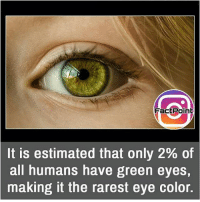 Facts, Friends, and Memes: FactPoinb  It is estimated that only 2% of  all humans have green eyes,  making it the rarest eye color. Woaahhh that's cool 👍 did you know fact point , education amazing dyk unknown facts daily facts💯 didyouknow follow follow4follow earth science commonsense f4f factpoint instafact awesome world worldfacts like like4ike tag friends Don't forget to tag your friends 👍