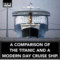 Crazy 👀: FACTS  BIBL E  A COMPARISON OF  THE TITANIC AND A  MODERN DAY CRUISE SHIP. Crazy 👀