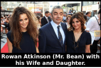 Mr. Bean: Facts  Book  Rowan Atkinson (Mr. Bean) with  his Wife and Daughter.