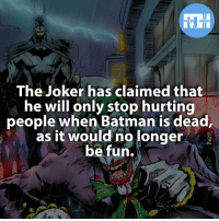 Memes, Wolverine, and Daredevil: FACTS HEROES  The Joker has claimed that  he will only stop hurting  people when Batman is dead,  as it would no longer  be fun. ▲▲ - Who do you think will win Super Bowl LI? - My other IG accounts @factsofflash @yourpoketrivia @webslingerfacts ⠀⠀⠀⠀⠀⠀⠀⠀⠀⠀⠀⠀⠀⠀⠀⠀⠀⠀⠀⠀⠀⠀⠀⠀⠀⠀⠀⠀⠀⠀⠀⠀⠀⠀⠀⠀ ⠀⠀--------------------- batmanvssuperman xmen batman superman wonderwomen deadpool spiderman hulk thor ironman marvel captainmarvel theflash wolverine daredevil aquaman justiceleague youngjustice blackpanther greenlantern starwars captainmarvel batmanvsuperman captainamerica haljordan arsenal speedy like4like civilwar