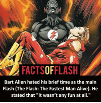 FACTSOFFLASH Bart Allen Hated His Brief Time as the Main