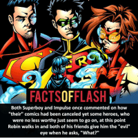 "Memes, Zoom, and 🤖: FACTSOFFLASH  Both Superboy and Impulse once commented on how  ""their"" comics had been canceled yet some heroes, who  were no less worthy just seem to go on, at this point  Robin walks in and both of his friends give him the ""evil""  eye when he asks, ""What?"" ⚡️⚡️ - Which Flash related character should get his own series in Rebirth? - My other IG Accounts @facts_of_heroes @webslingerfacts @yourpoketrivia ⠀⠀⠀⠀⠀⠀⠀⠀⠀⠀⠀⠀⠀⠀⠀⠀⠀⠀⠀⠀⠀⠀⠀⠀⠀⠀⠀⠀⠀⠀⠀⠀⠀⠀ ⠀⠀------------------------ jaiwest lindapark batman gorillagrodd maxmercury impulse inertia professorzoom danielwest godspeed savitar flashcw theflash hunterzolomon therogues flashcw justiceleague wallywest eobardthawne grantgustin ezramiller like4like batmanvsuperman bartallen zoom flash barryallen youngjustice jaygarrick"