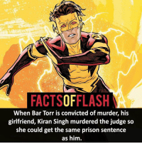 Batman, Easter, and Facts: FACTSOFFLASH  When Bar Torr is convicted of murder, his  girlfriend, Kiran Singh murdered the judge so  she could get the same prison sentence  as him. ⚡️⚡️ - Another fact: Bar's witness protection name was Bart, an Easter egg to Bart Allen - My other IG Accounts @facts_of_heroes @webslingerfacts @yourpoketrivia ⠀⠀⠀⠀⠀⠀⠀⠀⠀⠀⠀⠀⠀⠀⠀⠀⠀⠀⠀⠀⠀⠀⠀⠀⠀⠀⠀⠀⠀⠀⠀⠀⠀⠀ ⠀⠀------------------------ blackflash lindapark batman johnfox maxmercury impulse inertia professorzoom danielwest godspeed savitar flashcw theflash hunterzolomon therogues flashcw justiceleague wallywest eobardthawne grantgustin ezramiller like4like batmanvsuperman bartallen zoom flash barryallen youngjustice jaygarrick