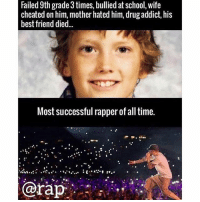 Best Friend, Eminem, and Friends: Failed 9th grade 3 times, bullied at school, wife  cheated on him, mother hated him, drug addict, his  best friend died..  Most successful rapper of all time.  rap Never give up ! Can't stop won't stop 😤😤😤 @eminem rapsavage rap ➡️ TAG 5 FRIENDS ➡️ TURN ON POST NOTIFICATIONS