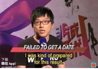 Date, Irl, and Me IRL: FAILED TO GETA DATE  I was kind of prepared  Wfor this result  下载  微在Appl  app wezeit.com me irl