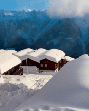 failnation:  Snow Covered Village In Switzerland: failnation:  Snow Covered Village In Switzerland