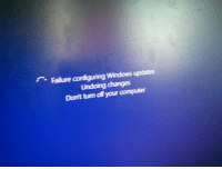 """Target, Tumblr, and Windows: Failure configuring Windows updates  Undoing dhanges  Don't turn off your computer <p><a href=""""http://www.meladoodle.com/post/113368680122/my-computer-just-spent-2-hours-updating-itself-and"""" class=""""tumblr_blog"""" target=""""_blank"""">meladoodle</a>:</p>  <blockquote><p>My computer just spent 2 hours updating itself and then this happened</p></blockquote>"""