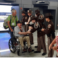 Chicago, Memes, and Police: Fairfax County Police Departnent Fairfax County police officers welcomed 107 WWII and Korean War veterans at Washington Dulles International Airport. The veterans traveled with Honor Flight Chicago and will visit numerous memorials throughout Washington, D.C. ProudAmerican