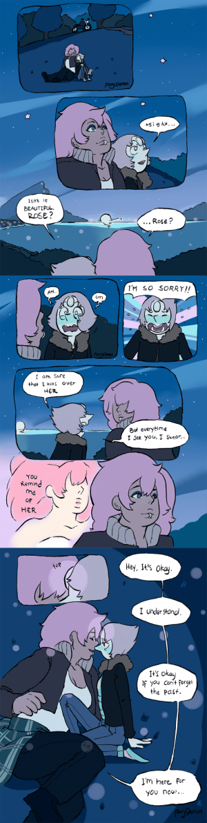 "satanisdepressed:  old strips i do when the eps came out :"")i hope she re-appear in future eps: Fairy Demon  Demon  lsnt it  BEAUTIFUL  ROSE?  Rose ?   IM so sORRY!!  AH  um  FairyDenon  I am Sore  that L was over  HER  But everytime  1 See you, I Suear.  Remin  the  oF  HER   hley, it's okay  I under Stand  ln  ts okau  you Cant forge  the Past.  Im here For  YOU now...  airDemon satanisdepressed:  old strips i do when the eps came out :"")i hope she re-appear in future eps"