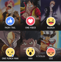 Memes, Nostalgia, and One-Punch Man: FAIRY TAIL  ONE PUNCH MAN  ONE PIECE  NOSTALGIA  HXH  BLEACH  CDZ Qual o melhor anime?