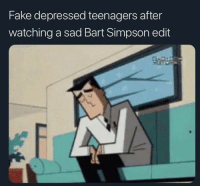 Sad Bart Simpson