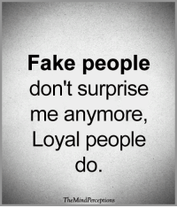 <3: Fake people  don't surprise  me anymore,  Loyal people  TheMindPerceptions <3