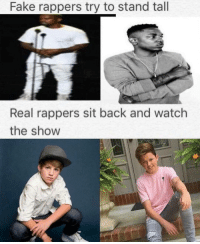 Bruh, Chill, and Dank: Fake rappers try to stand tall  Real rappers sit back and watch  the show Wow 🙌 the goat 🐐🐐🐐 ——————————————————————————————————————— My other accounts: @themememonk @memedoctor_ ————————————————————— mememonkmememonk mememonk bruh lmao hood meme chill nochill comedy pepe l4l ghetto dank dankmeme dankmemes memes lmfao triggered dank filthyfrank itslit lit realniggahours petty lol funny prank bestmemes bestmeme