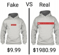 Supreme: Fake VS Real  SCHOLASTIC  Supreme  $9.99$1980.99