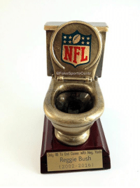 BREAKING: The NFL has awarded the 1st ever Toilet Bowl Award to Reggie Bush, for a record negative rushing yards season.  Credit - Justin Trusler: @FakeSportscentr  Only RB Coreer With Neg. Yards  Reggie Bush  (2002-2016) BREAKING: The NFL has awarded the 1st ever Toilet Bowl Award to Reggie Bush, for a record negative rushing yards season.  Credit - Justin Trusler