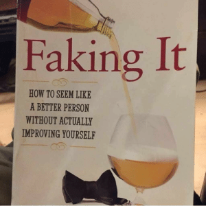 Meirl: Faking It  HOW TO SEEM LIKE  A BETTER PERSON  WITHOUT ACTUALLY  IMPROVING YOURSELF Meirl