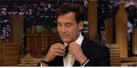 """<p><a href=""""https://www.youtube.com/watch?v=wen0HmRbkIU"""" target=""""_blank"""">Clive Owen impresses everyone on the show by making the perfect bowtie without a mirror!</a></p>: <p><a href=""""https://www.youtube.com/watch?v=wen0HmRbkIU"""" target=""""_blank"""">Clive Owen impresses everyone on the show by making the perfect bowtie without a mirror!</a></p>"""