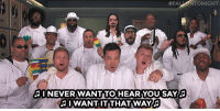 "Jimmy Fallon, Target, and youtube.com:  #FAL  TONIGHT  I NEVER WANT TO HEARYOU SAY  I WANT IT THAT WAY <p><a href=""https://www.youtube.com/watch?v=gMFsCqrJqwI"" target=""_blank"">Jimmy Fallon and The Roots jam out with The Backstreet Boys to their hit song ""I Want It That Way!"" </a></p>"