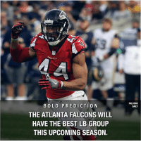 Agree? Disagree? Comment below! RiseUp Falcons AtlantaFalcons: FALCONS  DAILY  BOLD PREDICTION  THE ATLANTA FALCONS WILL  HAVE THE BEST LB GROUP  THIS UPCOMING SEASON. Agree? Disagree? Comment below! RiseUp Falcons AtlantaFalcons